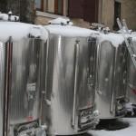 vasche sotto la neve