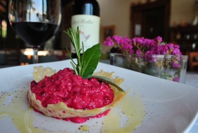 Risotto con rape rosse e fonduta di Monte Veronese