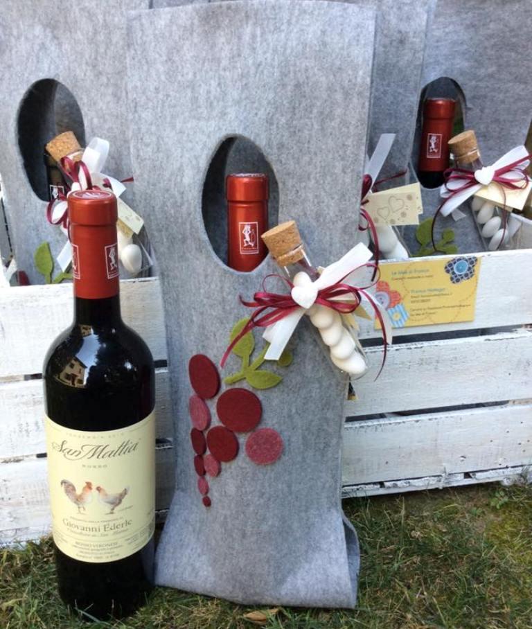 winebag di feltro idee di franca_vino bianco san mattia